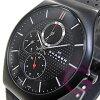 SKAGEN (Skagen) 856 XLTBLB performance Driven titanium case leather belt men's watch