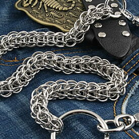 【T2N】 ウォレットチェーン シルバーブラス 真鍮合金 T2N05 モンスターロープ Wallet Chain Silver Brass 長財布用【あす楽対応】