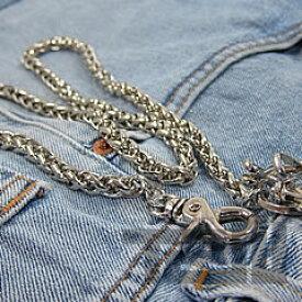 【T2N】 ウォレットチェーン シルバーブラス 真鍮合金 T2N39 二連 Wallet Chain Silver Brass 財布用 【あす楽対応】