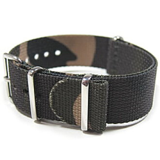 T2N Strap (strap T2N) CHNT-4CAMO1 Camo pattern camouflage NATO nylon belt  premiumnylons traps 4 RING military watches for change belt NATO strap