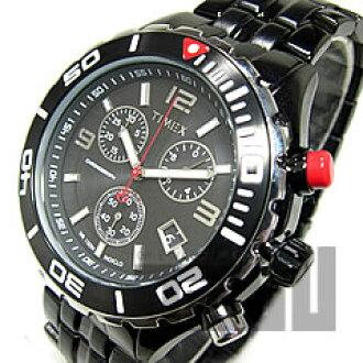 TIMEX(Timex)T2M758 SL系列Sport Luxury计时仪金属皮带黑色IP直接进口人表手表