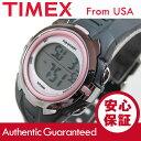 【メール便送料無料】TIMEX (タイメックス) T5K360 Marathon/マラソン デジタル ラバーベルト ピンク×ブラック レ…