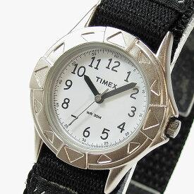 【メール便送料無料】Timex (タイメックス) T79051 TIMEX KIDS/タイメックスキッズ ナイロンベルト ブラック×シルバー キッズ・子供にオススメ! かわいい! キッズウォッチ 腕時計 【あす楽対応】