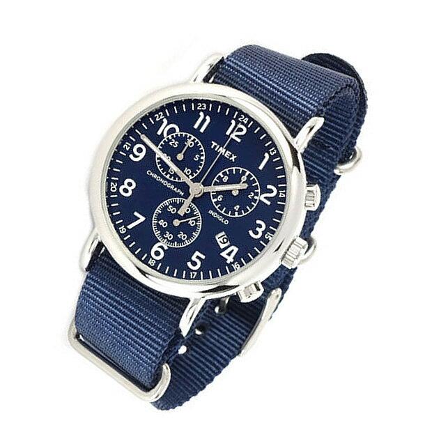 TIMEX (タイメックス) TW2P71300 Weekender/ウィークエンダー セントラルパーク クロノグラフ ミリタリー ナイロンベルト ブルーダイアル メンズウォッチ 腕時計