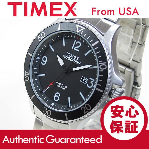 TIMEX (タイメックス) TW4B10900 Expedition Ranger/エクスペディション レンジャー ブラックダイアル メタルベルト シルバー メンズウォッチ 腕時計