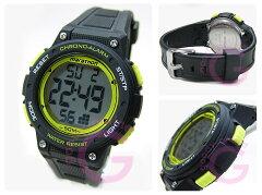 Timex(タイメックス)TW5K84900Mid-SizeMarathon/ミッドサイズマラソンデジタルラバーベルトブラック×イエローメンズウォッチ腕時計【楽ギフ_包装選択】