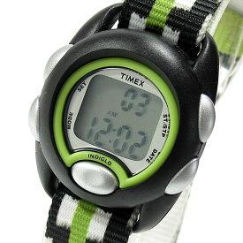 【メール便送料無料】 TIMEX (タイメックス) TW7C13000 TIMEX KIDS/タイメックスキッズ デジタル ナイロンベルト ブラック グリーン キッズ・子供にオススメ! かわいい! キッズウォッチ 腕時計 【あす楽対応】