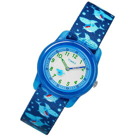 【メール便送料無料】 TIMEX (タイメックス) TW7C13500 TIMEX KIDS/タイメックスキッズ ナイロンベルト シャーク サメ ブルー キッズ・子供にオススメ! かわいい! キッズウォッチ 腕時計
