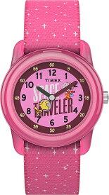 TIMEX (タイメックス) TW7C7900 スヌーピー/Space Snoopy ピンク ナイロンベルト キッズ・子供用 キッズウォッチ 腕時計