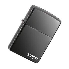 【並行輸入品】 ZIPPO ジッポー スタンダード ZIPPOロゴ オイルライター レギュラーサイズ ブラックアイス 150ZL 【あす楽対応】