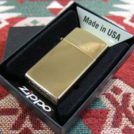 【メール便送料無料】【並行輸入品】 ZIPPO ジッポー 1654 スタンダード オイルライター スリムサイズ ハイポリッシュブラス 真鍮 ゴールド 1654