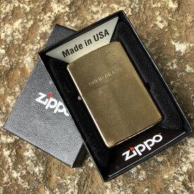 【メール便送料無料】【並行輸入品】 ZIPPO ジッポー Solid Brass オイルライター レギュラーサイズ ブラッシュ ゴールド 204【あす楽対応】