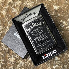 【並行輸入品】 ZIPPO ジッポー Jack Daniels ジャックダニエル オイルライター レギュラーサイズ ストリートクローム シルバー 24779
