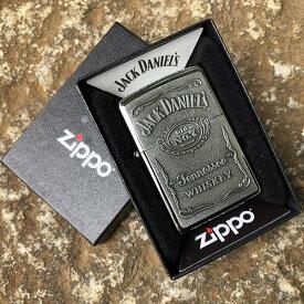 【メール便送料無料】【並行輸入品】 ZIPPO ジッポー Jack Daniel's Whiskey ジャックダニエル オイルライター レギュラーサイズ ハイポリッシュ シルバー 250JD.427
