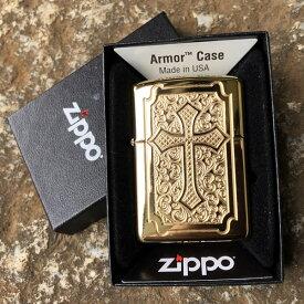 【並行輸入品】 ZIPPO ジッポー 十字架 オイルライター レギュラーサイズ ハイポリッシュ シルバー 29436