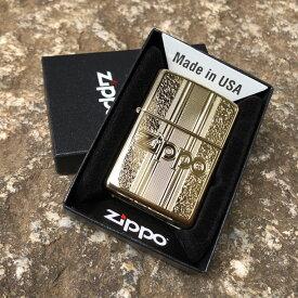 【並行輸入品】 ZIPPO ジッポー スタンダード オイルライター レギュラーサイズ ハイポリッシュ ブラス 29677