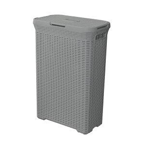 アミーランドリーボックス W44.5×D26.5×H62 ( ポリプロピレン ランドリーボックス ランドリー ボックス ランドリーバスケット 洗濯カゴ 洗濯物入れ 収納 蓋付き 取っ手付き 大容量 スリム 横置