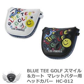 BLUE TEE GOLF ブルーティーゴルフ スマイル&カート マレットパター用ヘッドカバー HC-012 メール便選択可能