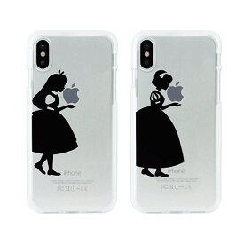 iPhoneXS/X ケース カバーiPhone XS / X ソフトクリアケース シルエット 白雪姫 アリス アイフォンDS10376i8 スマホ スマートフォン docomo au softbankディズニー Disney アイフォン セブン ポイント 送料無料 4589752993755