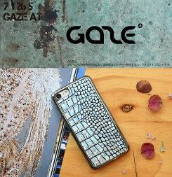 iPhone7ケースカバーiPhone7GAZEHologramCrocoBarアイフォンセブンGZ8020i7スマホスマートフォンdocomoausoftbankアイフォンセブン本革ポイント送料無料4580492330206