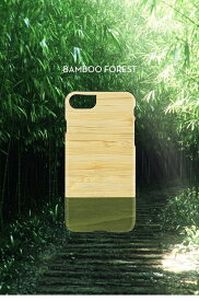 iPhone7 ケース カバー Man&Wood iPhone7天然木ケース Bamboo Forest ブラックフレーム アイフォン セブンI8067i7 スマホ スマートフォン  docomo au softbank木製 アイフォン セブン ポイント 送料無料 4580492330671
