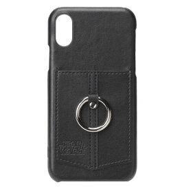 iPhone X 用 ポケット リング付きハードケース/ ロゴ ブラックPG-DCS360sw iPhone X iphonex 10 スターウォーズ star warsカバー ソフトケース アイフォン ダースベーダー ダースベイダー10P 4562358133602