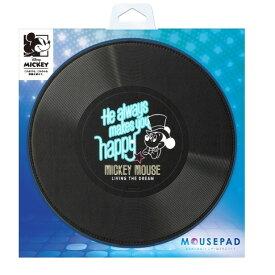 マウスパッド ミッキーマウス / ブラックPG-DMP354bk パット パソコン PC ディズニー disneyレコード カバー スキン windows mac book10P 4562358113543