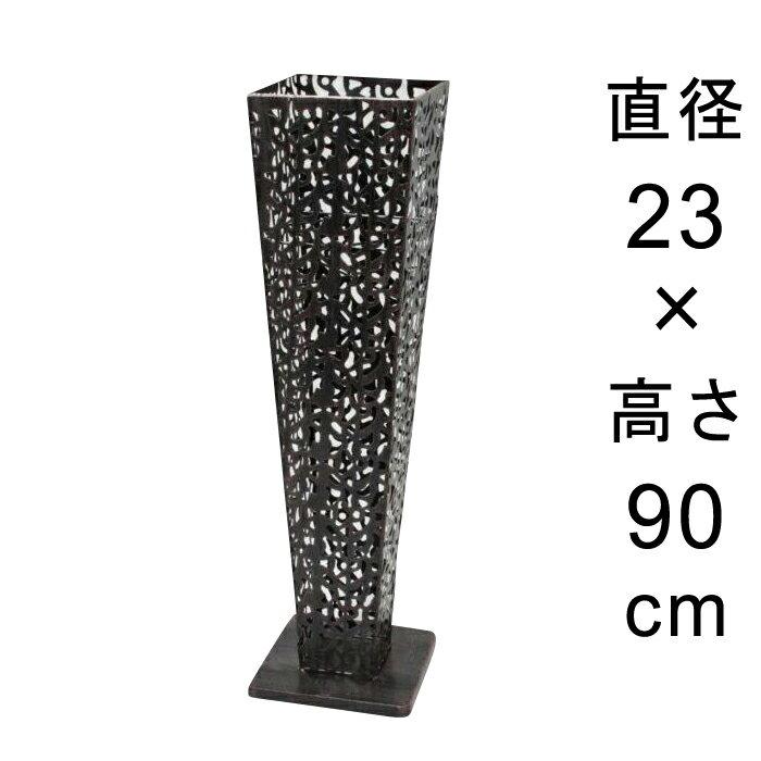 デザイン アイアン フラワースタンド〔048534〕 角型 アンティーク ブラック 高さ90cm ◆写真4-5枚目の内側容器は別売◆ 送料無料