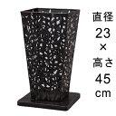 デザイン アイアン フラワースタンド〔048594〕 角型 アンティーク ブラック 高さ45cm ◆写真3-4枚目の内側容器は別売…