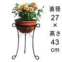 ワイヤー フラワースタンド 〔dys01-25〕注:写真の鉢植えは商品に含みません