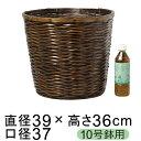 鉢カバー ステンバンブー 10号鉢用 直径34cm以下の鉢に対応 籐 カゴ かご 観葉植物 大型 10号 おしゃれ かわいい ナチ…