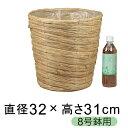 ◆当店で8号鉢用カバーの最安◆鉢カバー ナチュラル い草 8号鉢用 直径26cm以下の鉢に対応 [of75] 在庫処分 アウトレ…