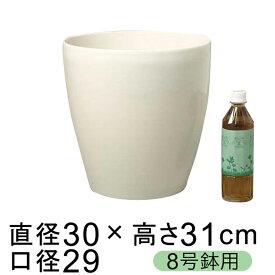 ラスターポット 300型 29.5cm 白 13リットル 植木鉢 おしゃれ 鉢カバー 8号鉢用 観葉植物 プラスチック 軽い