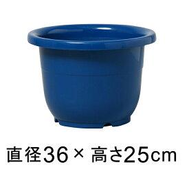 輪鉢 12号〔36cm〕 ブルー