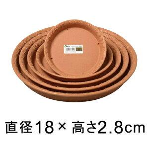【受皿】ノヴェルプレート 丸20型〔18cm〕 ブラウン◆適合する鉢◆底直径が13.6cm以下の植木鉢