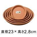 【受皿】ノヴェルプレート 丸25型〔23cm〕 ブラウン◆適合する鉢◆底直径が18.2cm以下の植木鉢