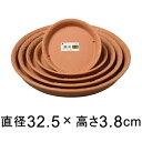 【受皿】ノヴェルプレート 丸35型〔32.5cm〕 ブラウン◆適合する鉢◆底直径が26.5cm以下の植木鉢