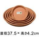 【受皿】ノヴェルプレート 丸40型〔37.5cm〕 ブラウン◆適合する鉢◆底直径が30.5cm以下の植木鉢