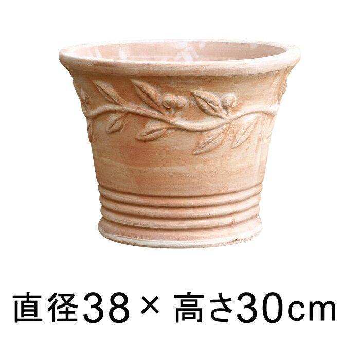 植木鉢 おしゃれ 大型 テラコッタ 鉢 オリーブポット 素焼き鉢 大 40cm 20リットル