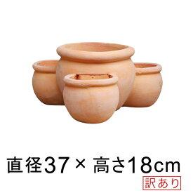 【訳あり】ストロベリーポット 素焼き鉢 小 37cm 植木鉢 uetc147-16 [of20]◆鉢底穴が中心の1ヵ所のみとなります◆