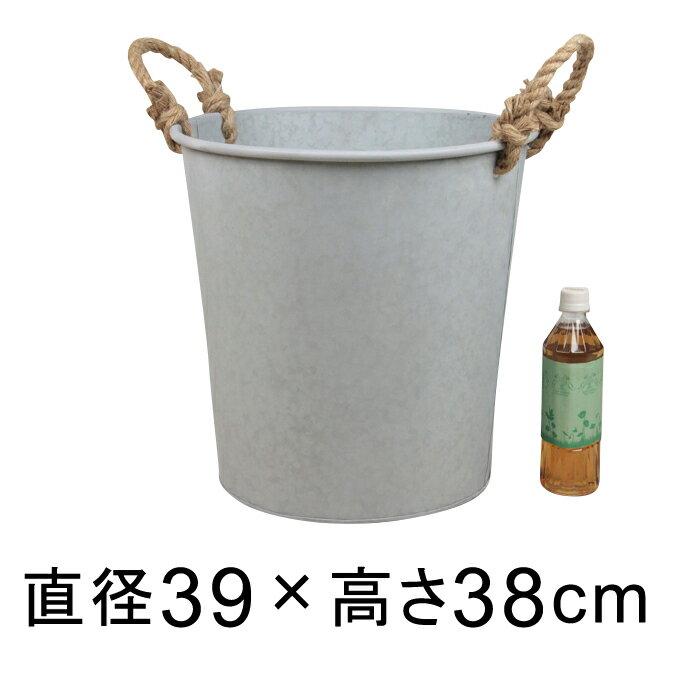 鉢カバー 10号 ブリキ製 39cm プランター ブリキポット おしゃれ レトロ〔043501〕