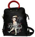 ベティー(ベティ)ブープ3WAYバッグ三通りの持ち方が出来てお得♪バックパック リュックハンドバッグ ショルダーバッグ黒 カンカン…
