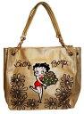 ベティー(ベティ)ブープトートバッグ チェーンタイプ花束おしゃれで可愛くって 大人っぽいゴールド 金色 合皮使いやすい!