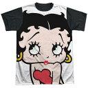 ベティー(ベティ) ブープ betty boop半袖Tシャツ ユニセックスM−XLサイズビッグフェイスポリエステルTシャツ