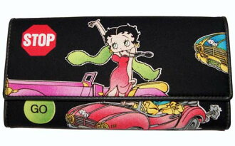 Cadillac Betty made of Betty (Betty) ブープ BETTY BOOP three fold wallet long wallet cloth