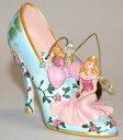 眠れる森の美女 Sleeping Beautyオーロラ姫 靴の形のオーナメントフィギュア 置物Disney Once Upon A Slipper Ornament Collection