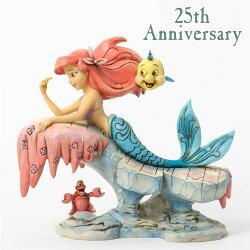ディズニージム・ショアーリトルマーメイド25周年記念!DreamingUnderTheSeaLittleMermaidOnRock置物フィギュア