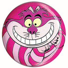 不思議の国のアリスCheshire Cat チシャ猫 ピンク 缶バッチloungefly ラウンジフライ
