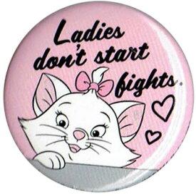 おしゃれキャット The Aristocats子猫のマリー MarieLadies don't start fights.バッチ ブローチ 缶バッチloungefly ラウンジフライ