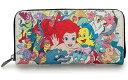 ディズニー DisneyThe Little Mermaid Character Print 2-Sided Walletラウンドチャック ウオレット長財布 おさいふloungefly ラウン…